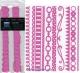 Набор бумажных ленточек Just the Edge 3 30,5 см Розовый